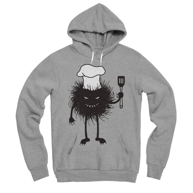 Evil bug chef loves cooking Men's Sponge Fleece Pullover Hoody by Boriana's Artist Shop