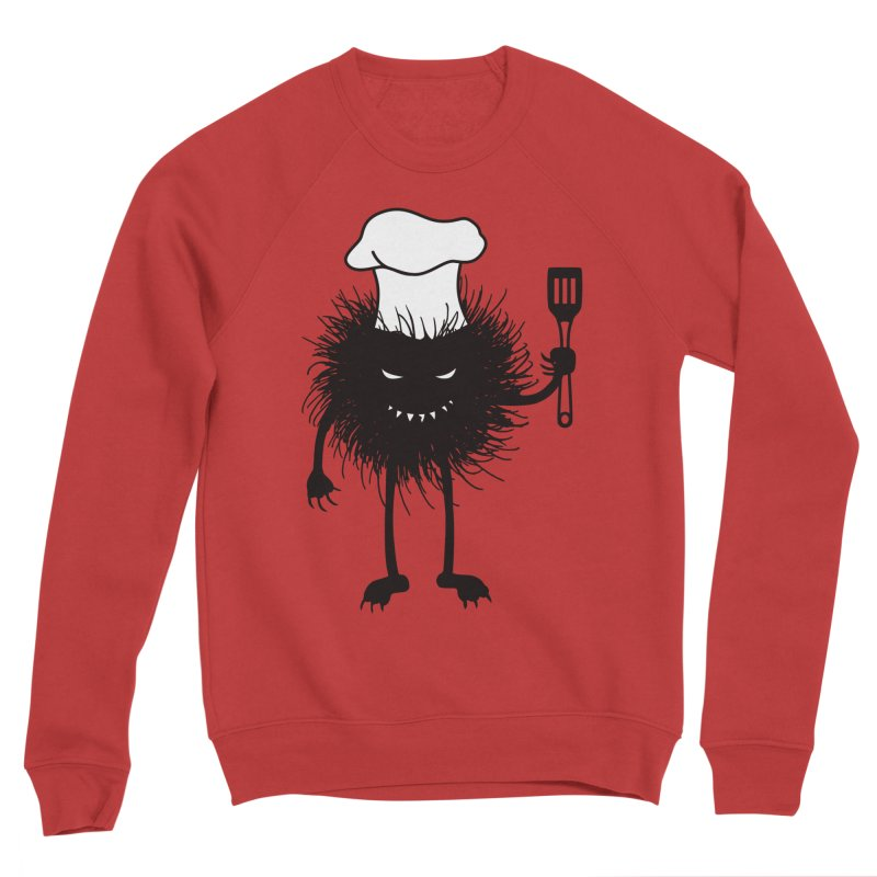 Evil bug chef loves cooking Women's Sponge Fleece Sweatshirt by Boriana's Artist Shop