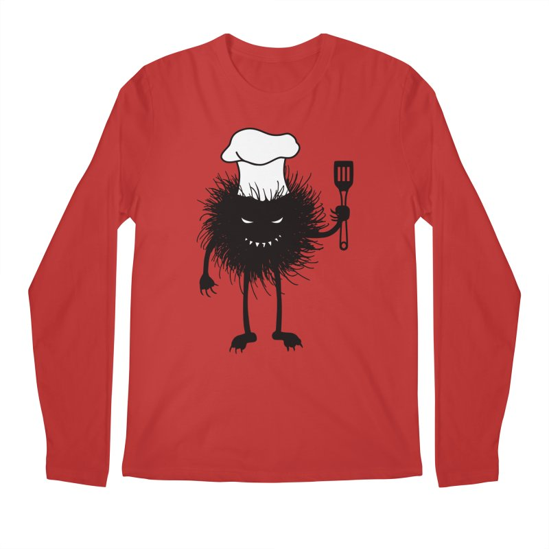 Evil bug chef loves cooking Men's Longsleeve T-Shirt by Boriana's Artist Shop