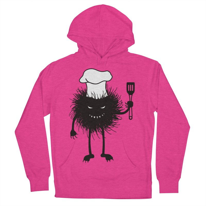 Evil bug chef loves cooking Women's French Terry Pullover Hoody by Boriana's Artist Shop