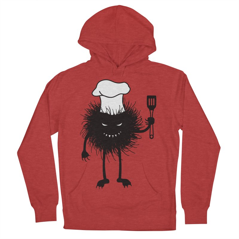 Evil bug chef loves cooking Men's French Terry Pullover Hoody by Boriana's Artist Shop