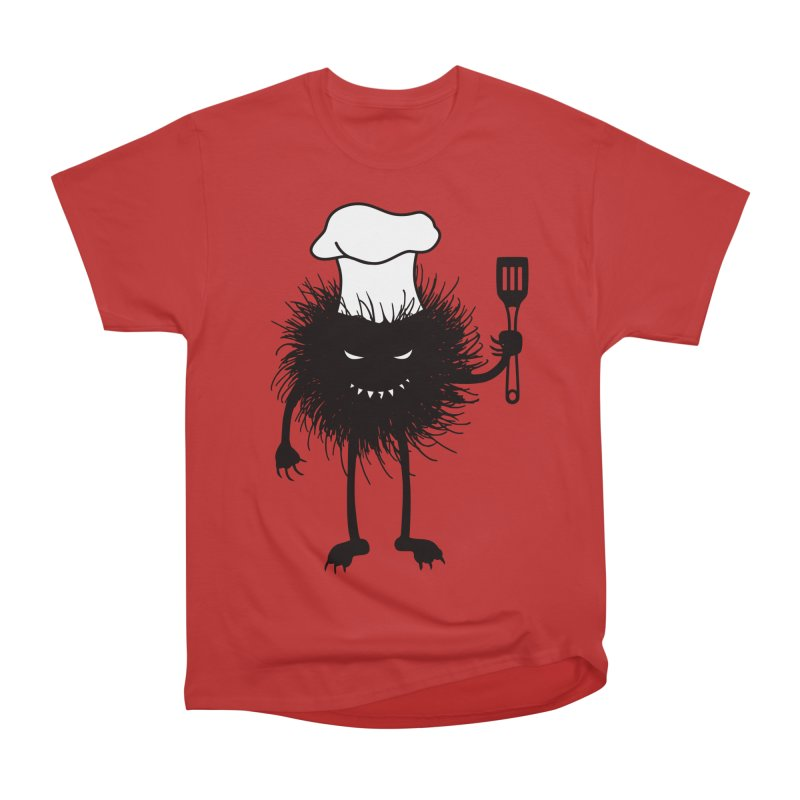 Evil bug chef loves cooking Men's Heavyweight T-Shirt by Boriana's Artist Shop