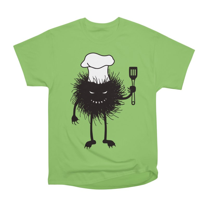 Evil bug chef loves cooking Women's Heavyweight Unisex T-Shirt by Boriana's Artist Shop