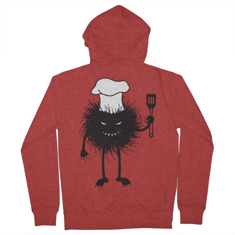 Evil bug chef loves cooking Women's French Terry Zip-Up Hoody by Boriana's Artist Shop