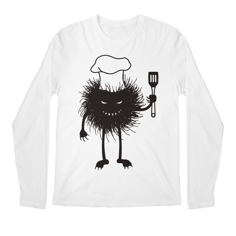 Evil bug chef loves cooking Men's Regular Longsleeve T-Shirt by Boriana's Artist Shop