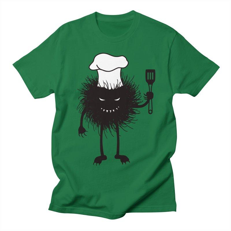 Evil bug chef loves cooking Men's Regular T-Shirt by Boriana's Artist Shop