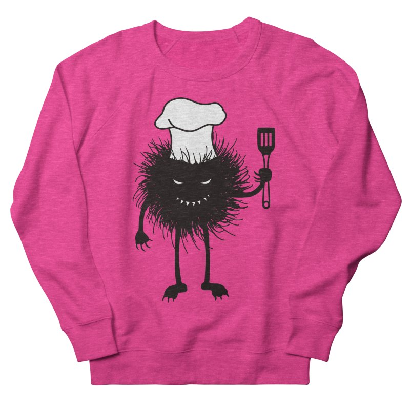 Evil bug chef loves cooking Women's French Terry Sweatshirt by Boriana's Artist Shop