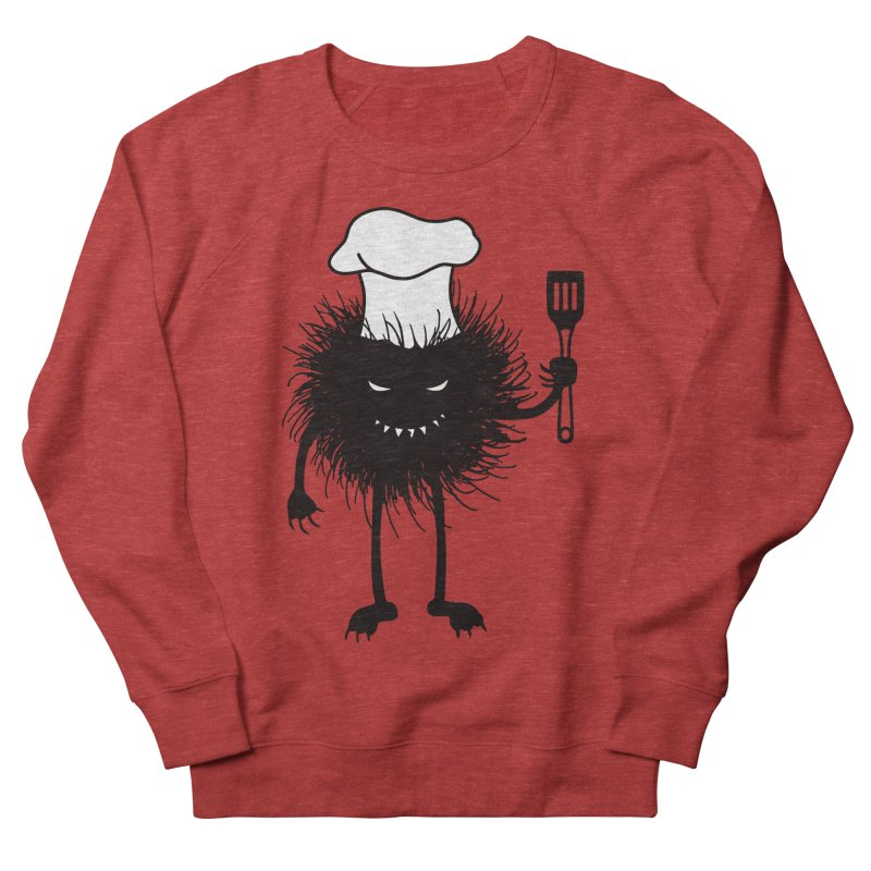 Evil bug chef loves cooking Men's French Terry Sweatshirt by Boriana's Artist Shop