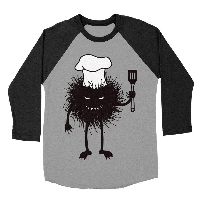 Evil bug chef loves cooking Men's Baseball Triblend Longsleeve T-Shirt by Boriana's Artist Shop