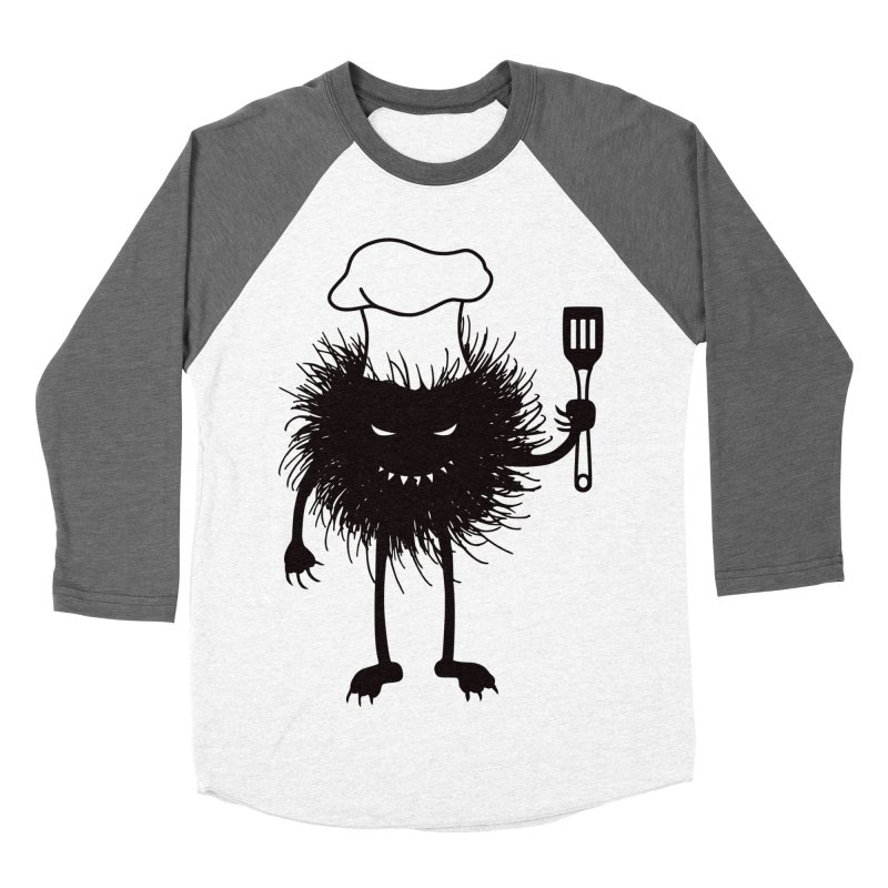 Evil bug chef loves cooking Men's Baseball Triblend Longsleeve T-Shirt by Boriana's Artist Shop