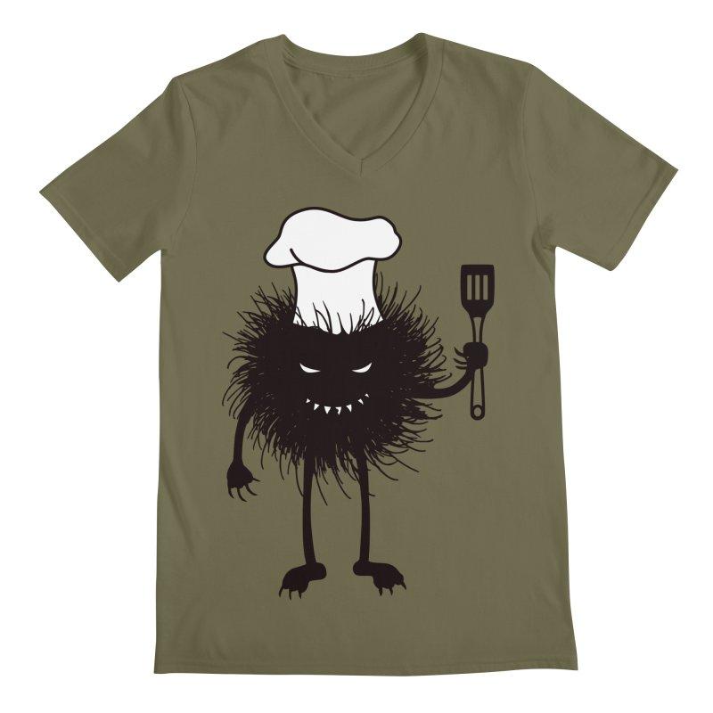 Evil bug chef loves cooking Men's Regular V-Neck by Boriana's Artist Shop