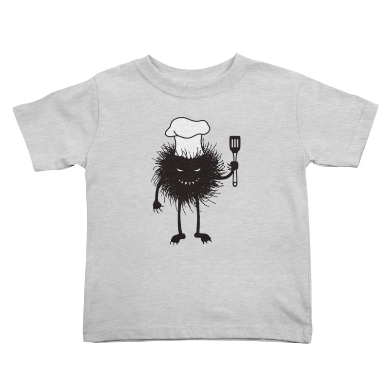 Evil bug chef loves cooking Kids Toddler T-Shirt by Boriana's Artist Shop
