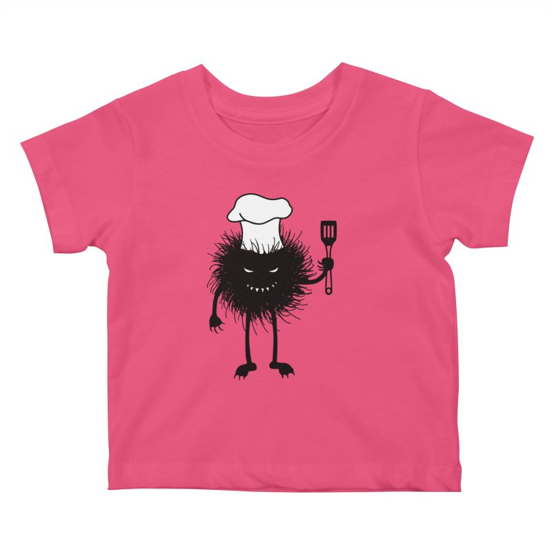 Evil bug chef loves cooking Kids Baby T-Shirt by Boriana's Artist Shop