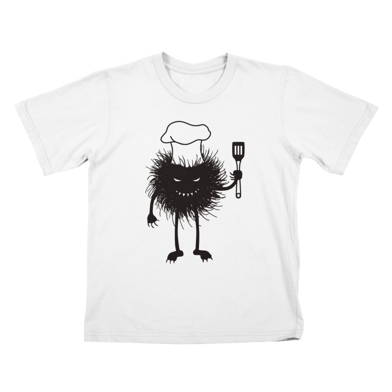 Evil bug chef loves cooking Kids T-Shirt by Boriana's Artist Shop