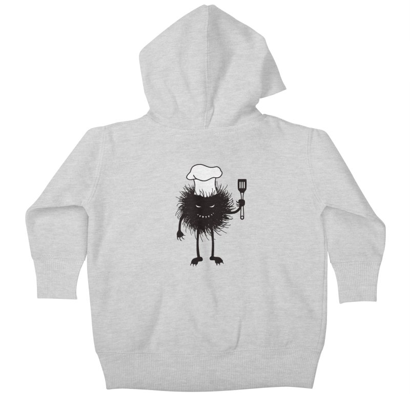 Evil bug chef loves cooking Kids Baby Zip-Up Hoody by Boriana's Artist Shop