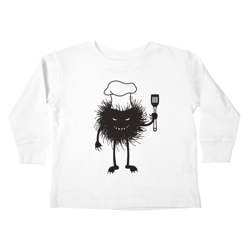 Evil bug chef loves cooking Kids Toddler Longsleeve T-Shirt by Boriana's Artist Shop
