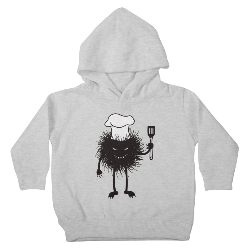 Evil bug chef loves cooking Kids Toddler Pullover Hoody by Boriana's Artist Shop