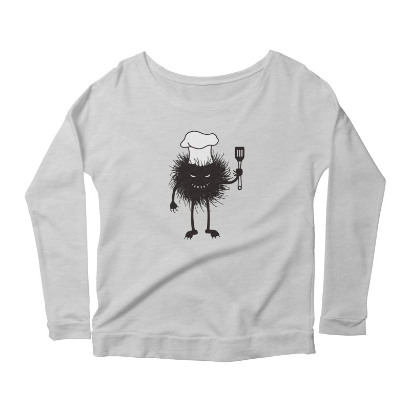 Evil bug chef loves cooking Women's Scoop Neck Longsleeve T-Shirt by Boriana's Artist Shop