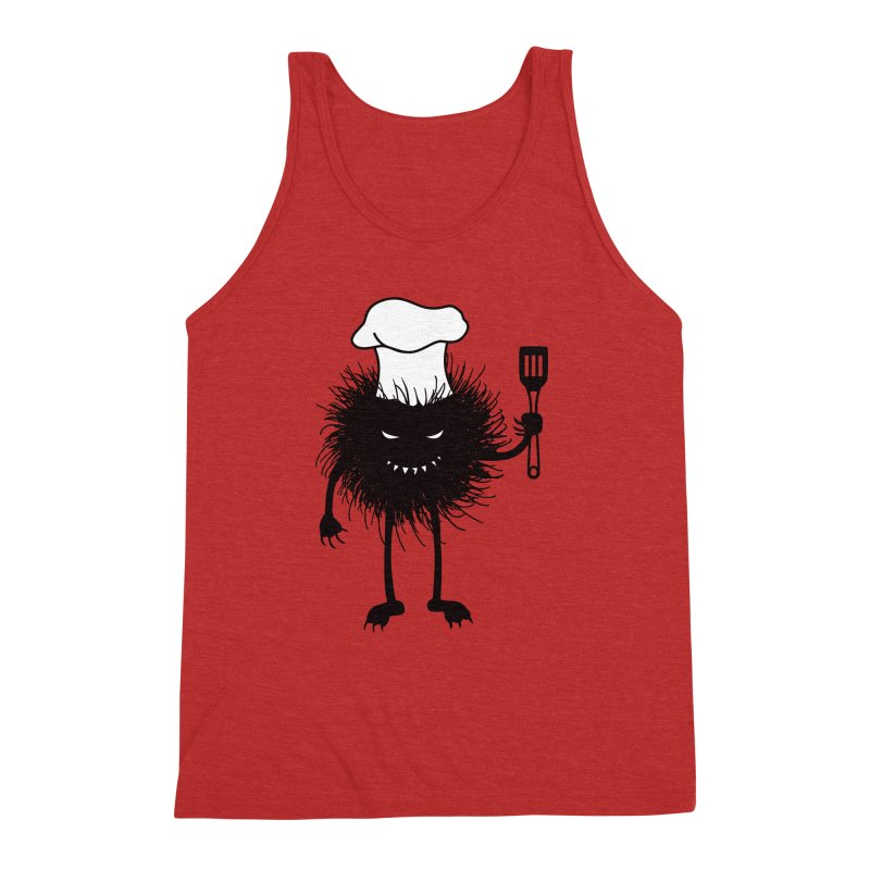 Evil bug chef loves cooking Men's Triblend Tank by Boriana's Artist Shop