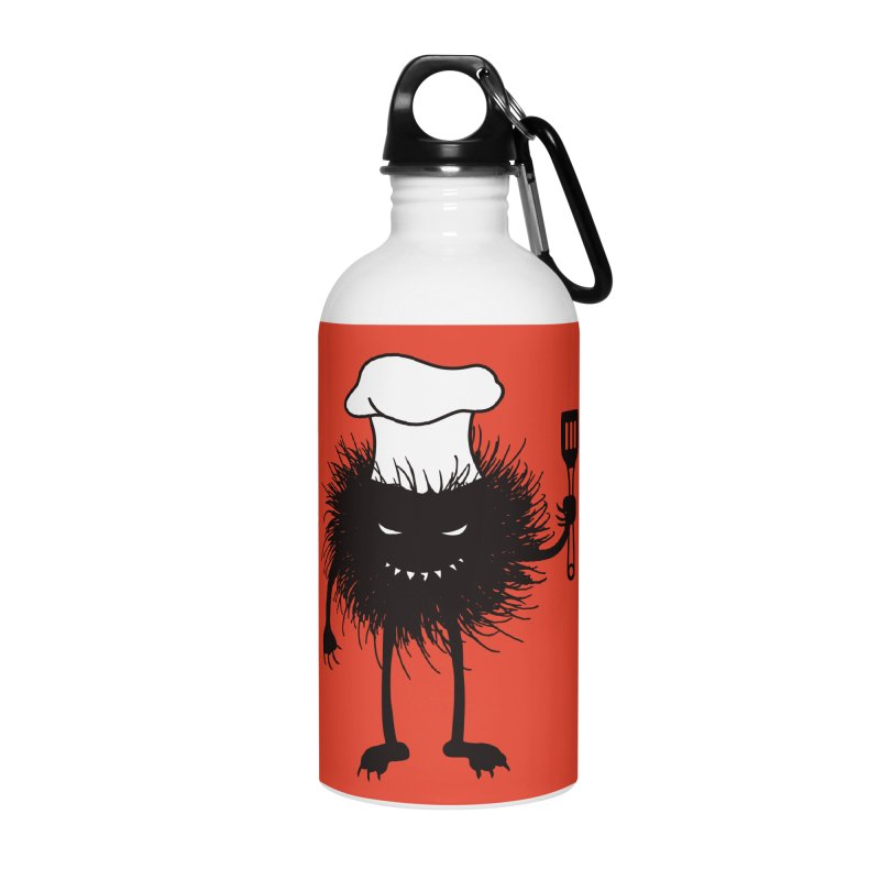 Evil bug chef loves cooking Accessories Water Bottle by Boriana's Artist Shop