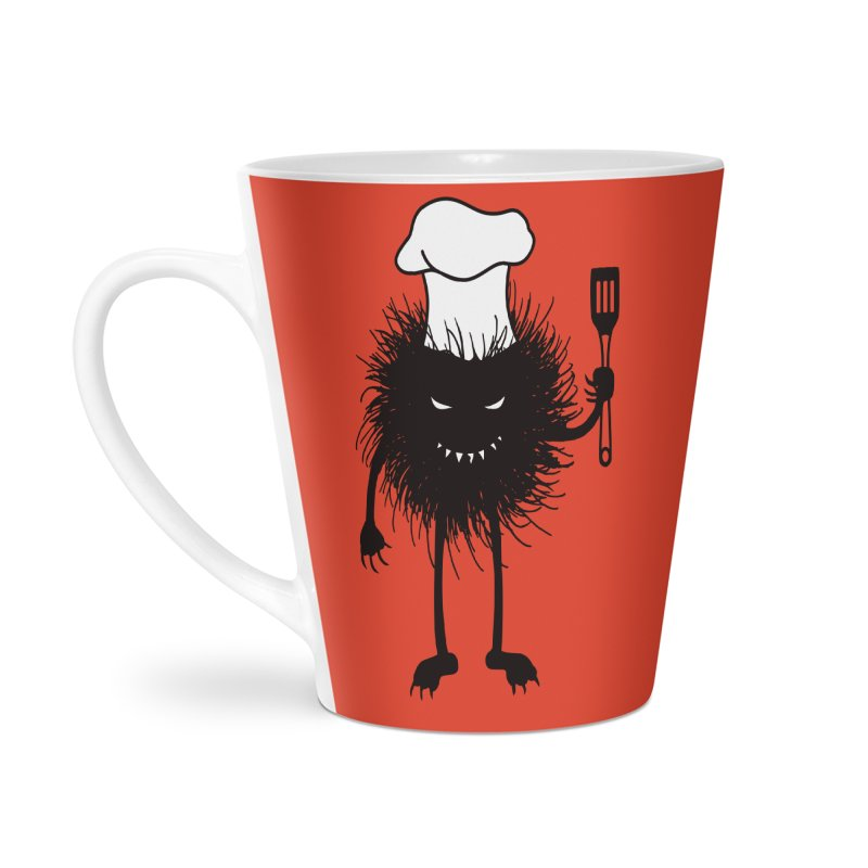 Evil bug chef loves cooking Accessories Latte Mug by Boriana's Artist Shop