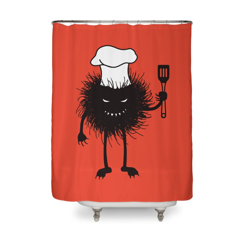 Evil bug chef loves cooking Home Shower Curtain by Boriana's Artist Shop