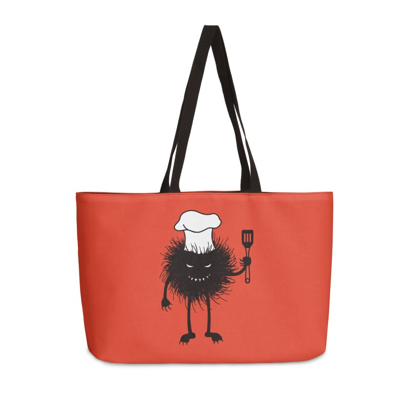 Evil bug chef loves cooking Accessories Weekender Bag Bag by Boriana's Artist Shop