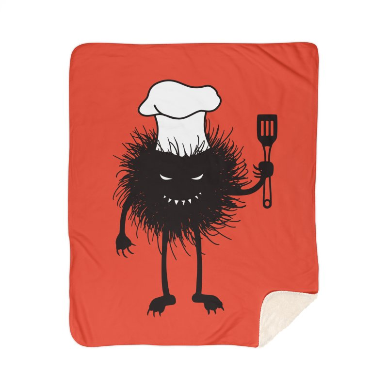 Evil bug chef loves cooking Home Sherpa Blanket Blanket by Boriana's Artist Shop