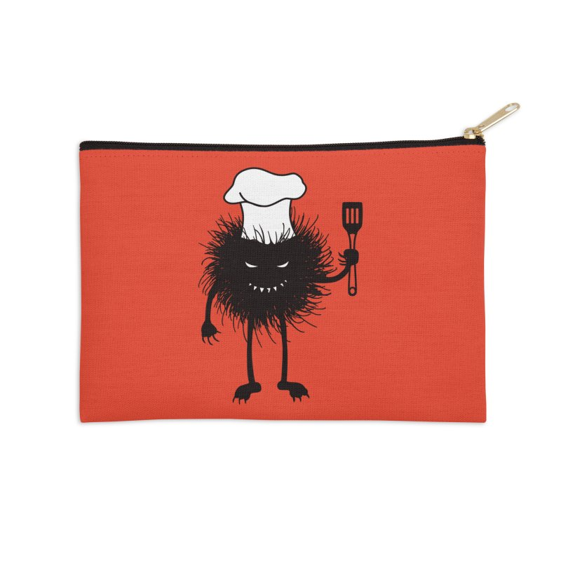 Evil bug chef loves cooking Accessories Zip Pouch by Boriana's Artist Shop