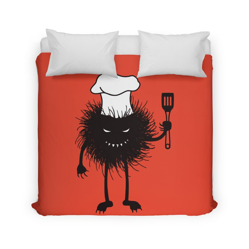Evil bug chef loves cooking Home Duvet by Boriana's Artist Shop