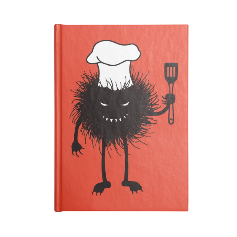 Evil bug chef loves cooking Accessories Lined Journal Notebook by Boriana's Artist Shop