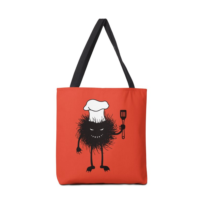 Evil bug chef loves cooking Accessories Tote Bag Bag by Boriana's Artist Shop