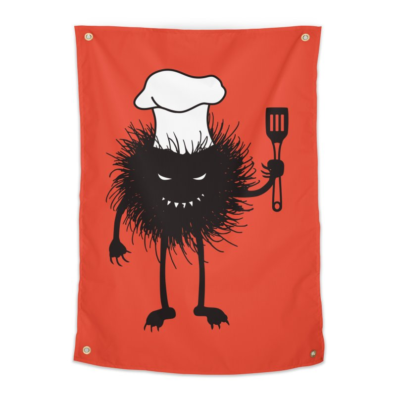 Evil bug chef loves cooking Home Tapestry by Boriana's Artist Shop