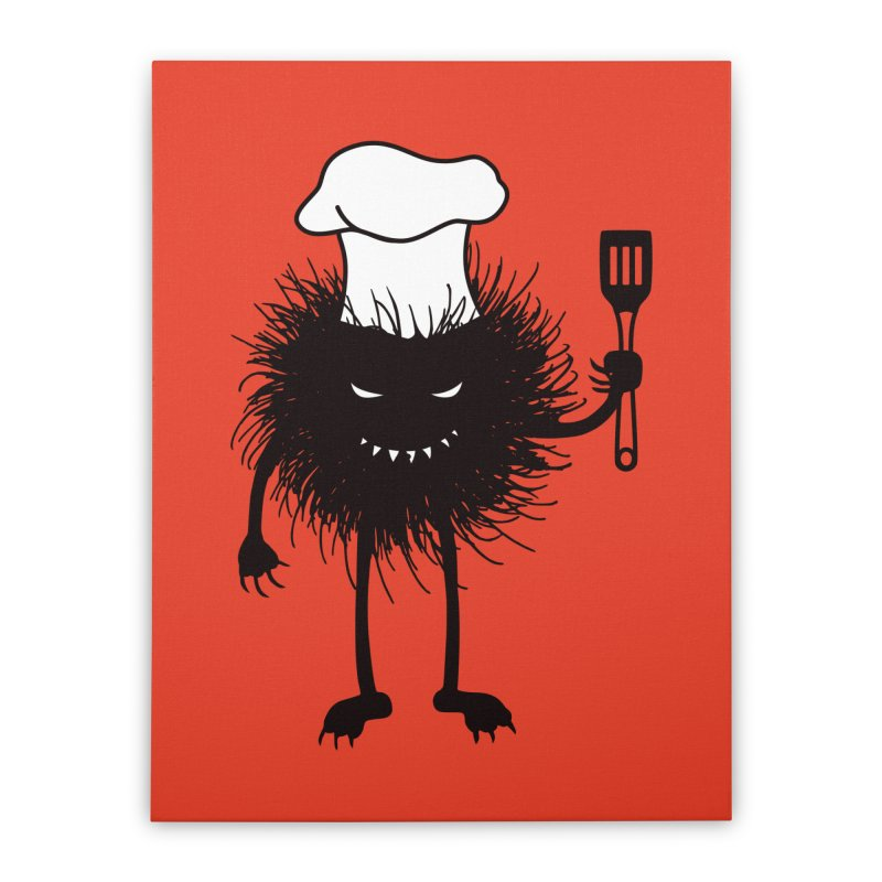 Evil bug chef loves cooking Home Stretched Canvas by Boriana's Artist Shop
