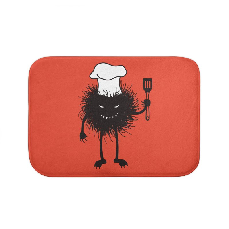 Evil bug chef loves cooking Home Bath Mat by Boriana's Artist Shop