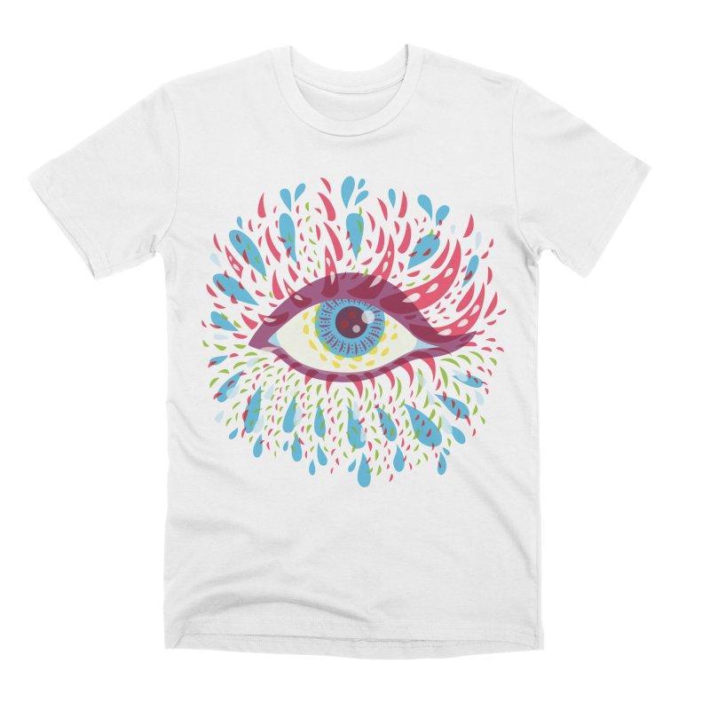 Weird Blue Psychedelic Eye Men's Premium T-Shirt by Boriana's Artist Shop