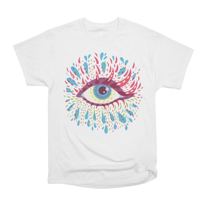 Weird Blue Psychedelic Eye Women's T-Shirt by Boriana's Artist Shop