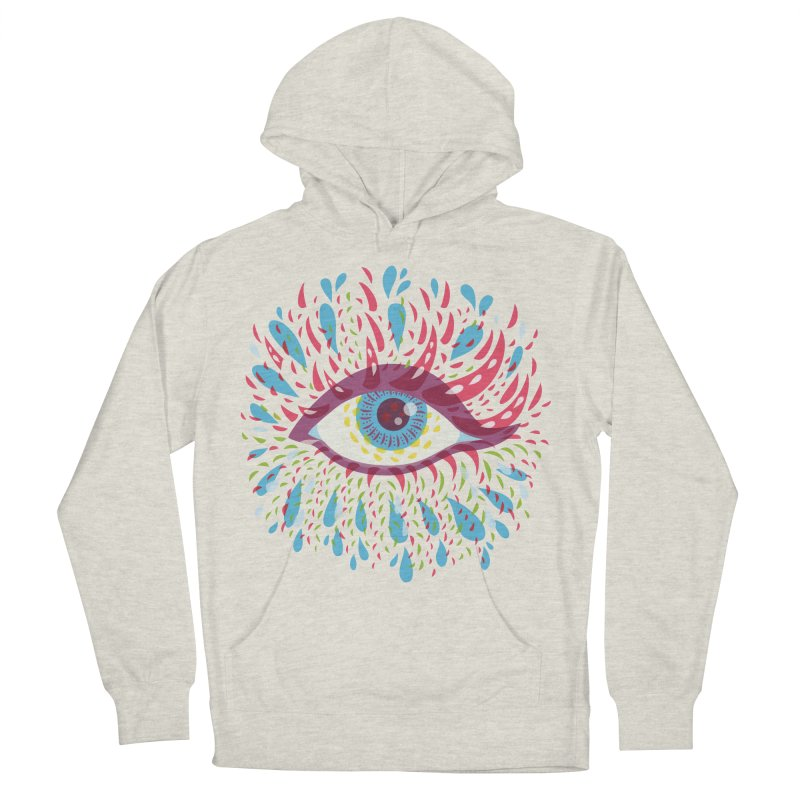 Weird Blue Psychedelic Eye Men's French Terry Pullover Hoody by Boriana's Artist Shop