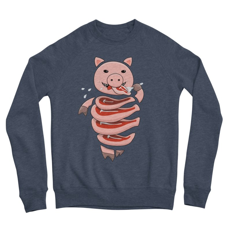 Funny Stupid Hungry Pig Women's Sponge Fleece Sweatshirt by Boriana's Artist Shop