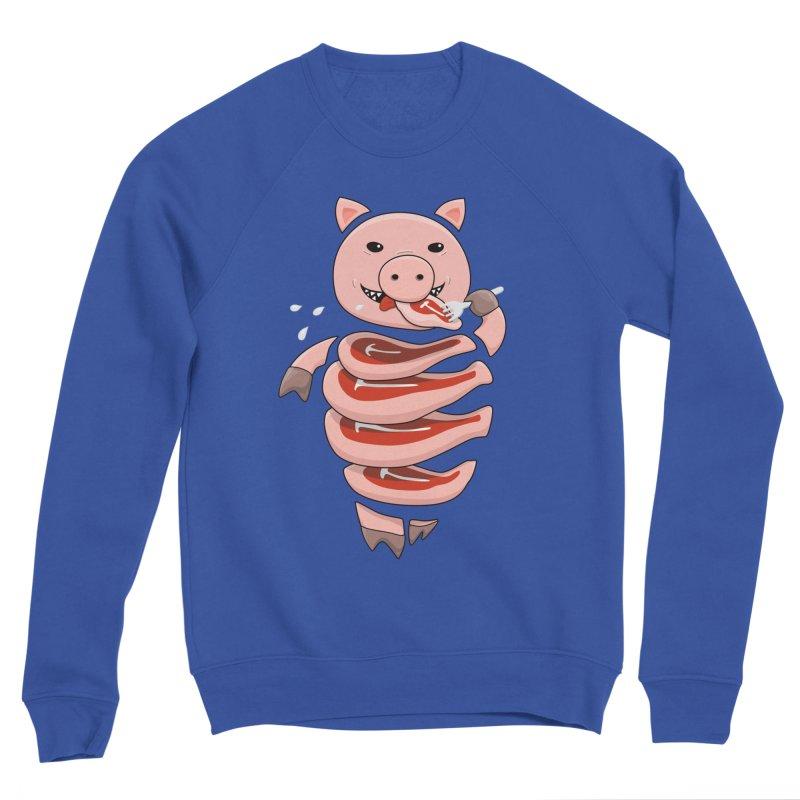 Funny Stupid Hungry Pig Women's Sponge Fleece Sweatshirt by Boriana's Artist Shop