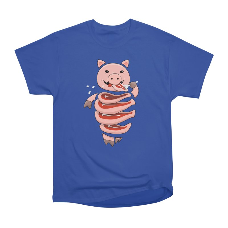 Funny Stupid Hungry Pig Women's T-Shirt by Boriana's Artist Shop
