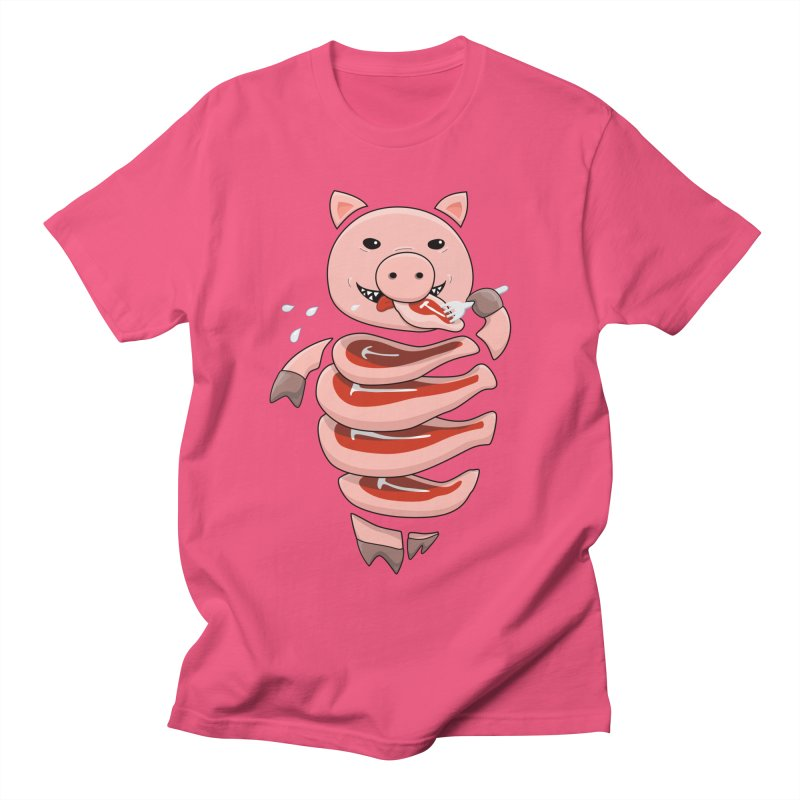 Funny Stupid Hungry Pig Men's Regular T-Shirt by Boriana's Artist Shop