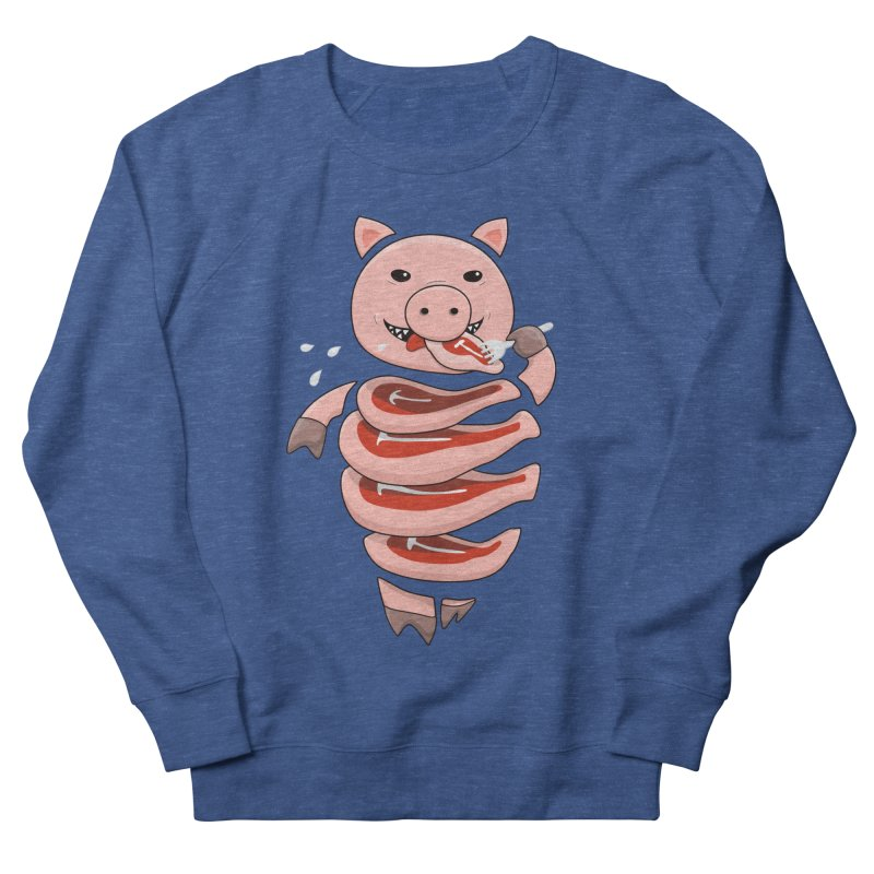 Funny Stupid Hungry Pig Women's French Terry Sweatshirt by Boriana's Artist Shop