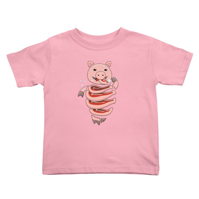 Funny Stupid Hungry Pig Kids Toddler T-Shirt by Boriana's Artist Shop