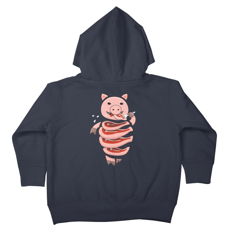 Funny Stupid Hungry Pig Kids Toddler Zip-Up Hoody by Boriana's Artist Shop