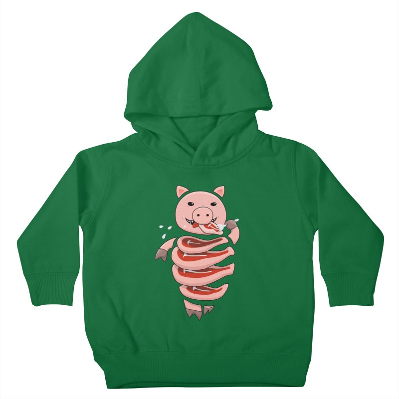 Funny Stupid Hungry Pig Kids Toddler Pullover Hoody by Boriana's Artist Shop