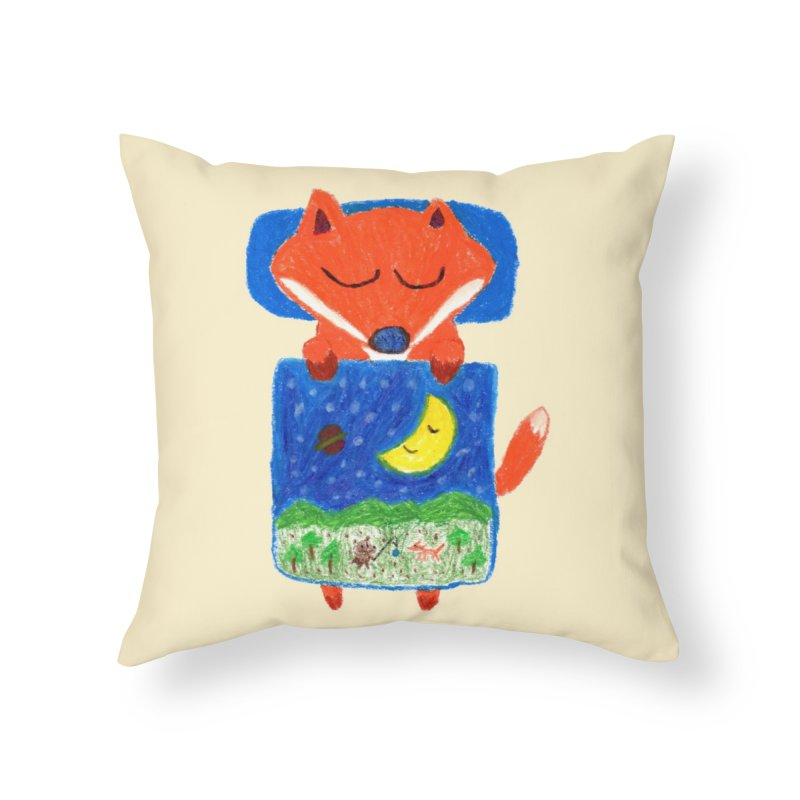 Good night. Home Throw Pillow by Boris Lee Illustration