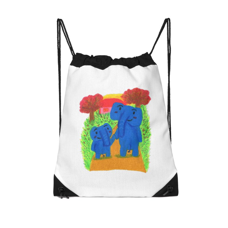 Time to go home. Accessories Drawstring Bag Bag by Boris Lee Illustration