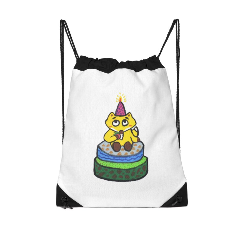 Happy Birthday! Accessories Drawstring Bag Bag by Boris Lee Illustration