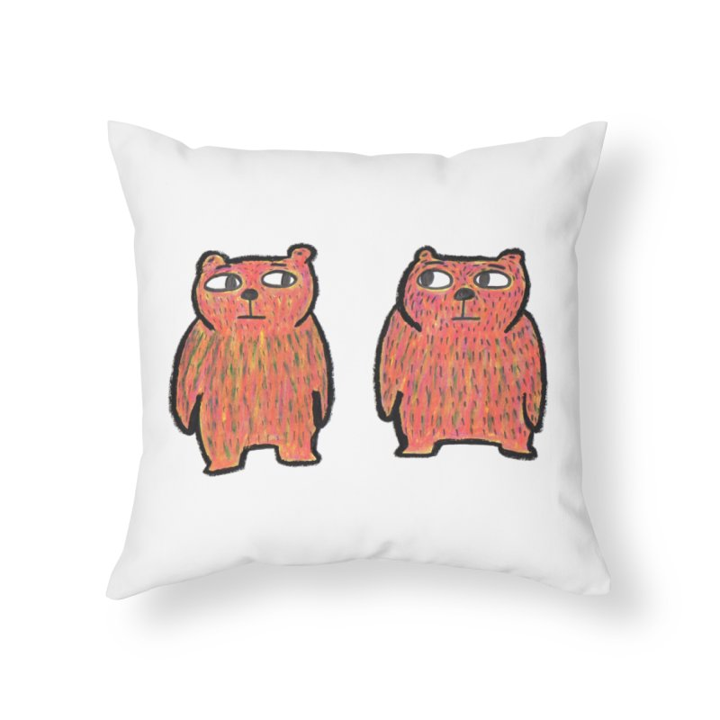 Are we twins? Home Throw Pillow by Boris Lee Illustration